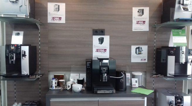 Die neu gestaltete Kaffeebar sorgt für den Genussfaktor.