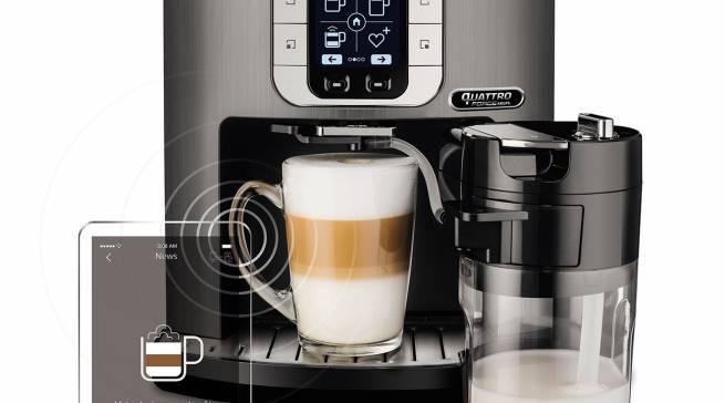 Der Kaffee-Vollautomat Latte Smart von Krups ist via Bluetooth über eine App steuerbar.