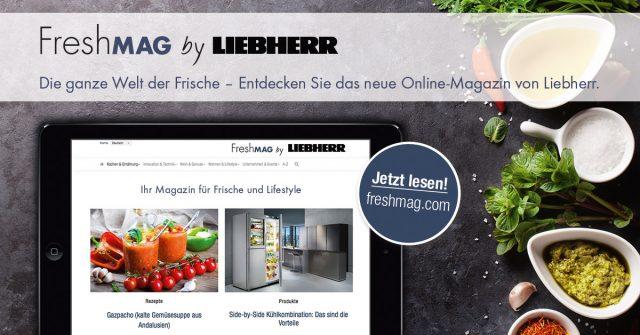 """Optisch geht """"FreshMAG"""" von Liebherr mit einer übersichtlichen wie modernen Kacheloptik an den Start."""