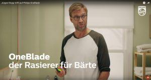 Jürgen Klopp trifft auf Philips OneBlade