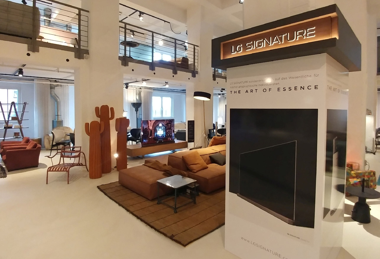 lg ganz stylisch: signature showroom, Innedesign