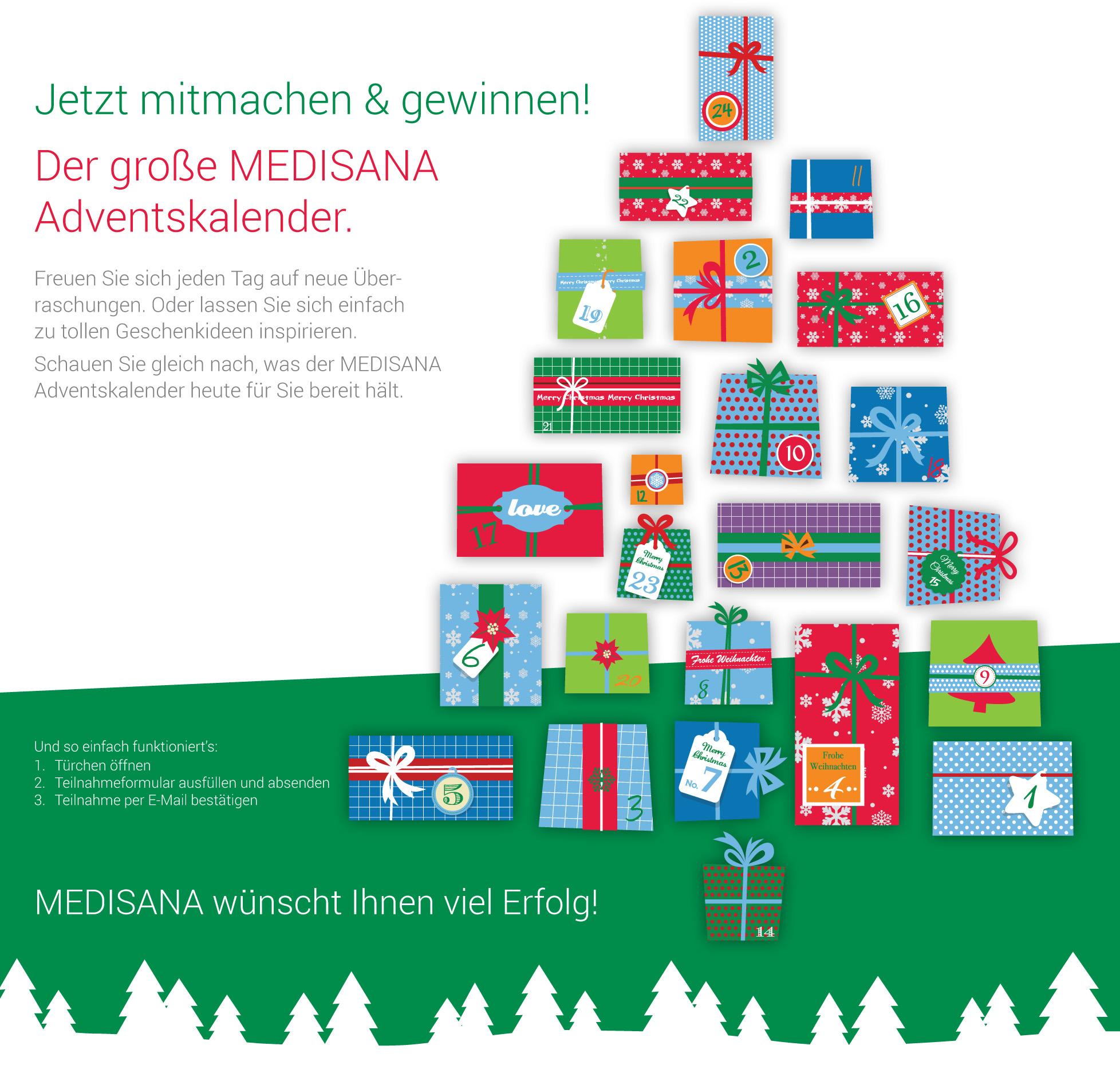 medisana online adventskalender 2016
