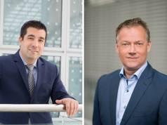 """Wollen mit """"Vestel"""" durchstarten: Özcan Karadogan, Vestel Geschäftsführer Germany und Robert Kalow, Vestel Germany Sales Director Weiße Ware."""