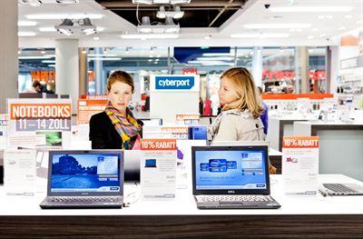 Führend bei Kundendienst und Beratung in Österreich: Cyberport.