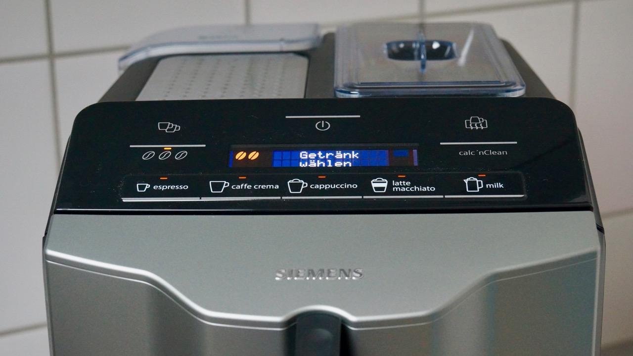Siemens Kühlschrank Temperaturanzeige Blinkt : Siemens eq.3 kaffeevollautomat im test 2 : kaffee auf knopfdruck