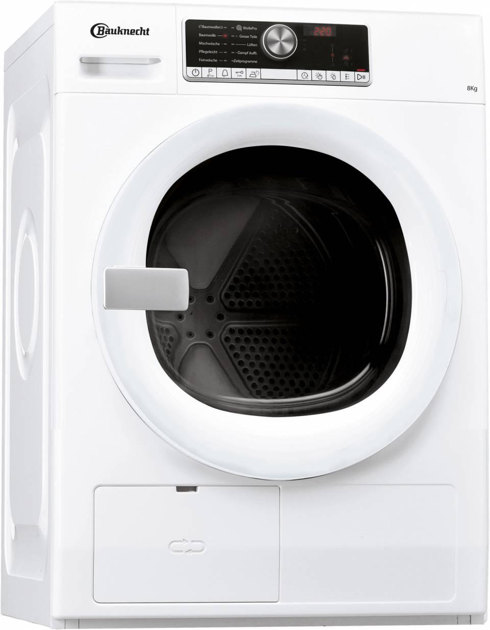 Das sparsamste Gerät unter den Top 3 des ETM Tests: Der PremiumCare Wäschetrockner TR Move 81A3 von Bauknecht.