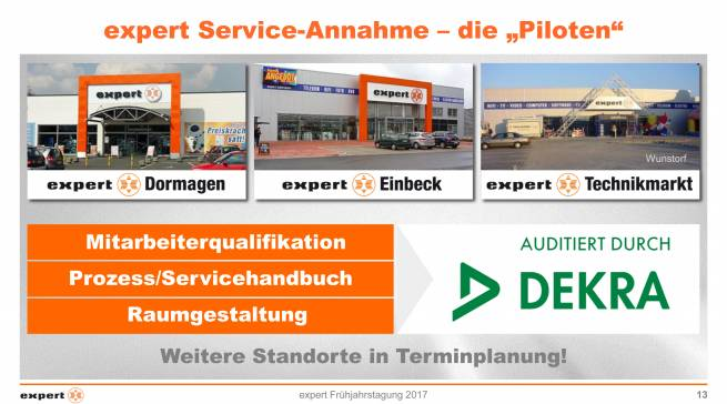 "expert Service-Annahme - die ""Piloten"""