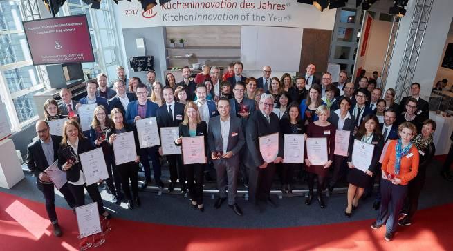 """Lauter Gewinner: Die Sieger der """"KüchenInnovation des Jahres"""" wurden anlässlich der Ambiente in Frankfurt geehrt."""