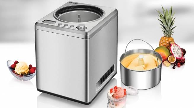 Mit den Ambiente Neuheiten von Unold kann der Sommer kommen: Die Profi Plus Eismaschine schafft 2,5 Liter Eis in einer Dreiviertelstunde, der Slow Juicer verspricht beste Vitamin- und Saft-Ausbeute.