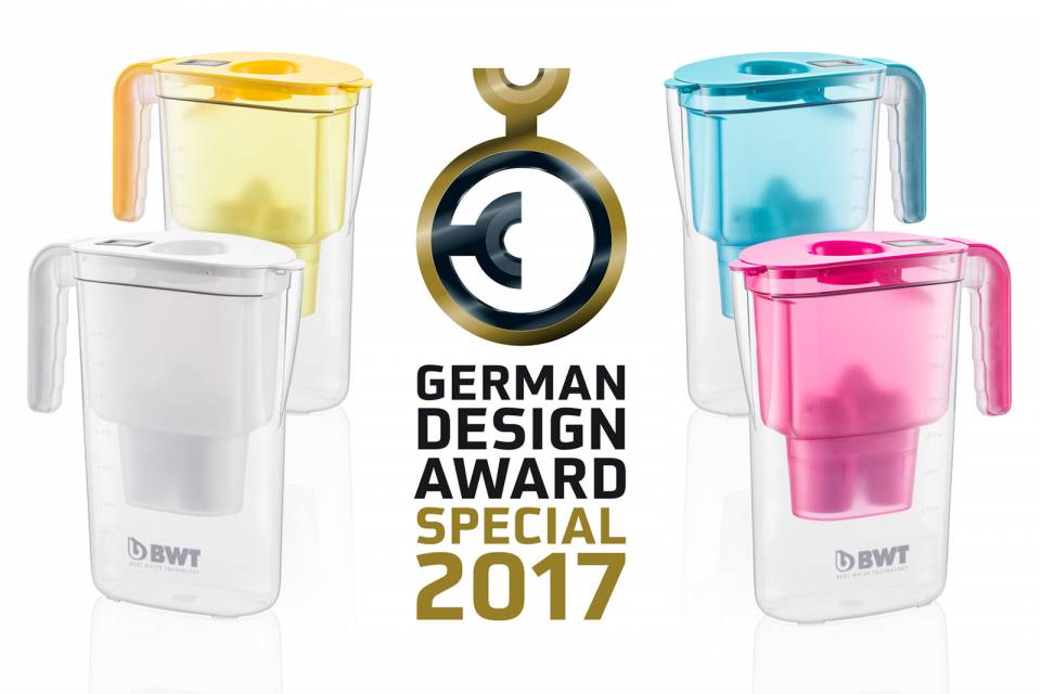 Das Tischwasserfilter-System Vida hat den German Design Award 2017 erhalten.