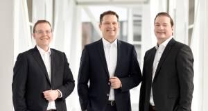 Sie managen die neue Miele Venture Capital GmbH (v. l): Dr. Christian Kluge, Peter Hübinger, Gernot Trettenbrein.
