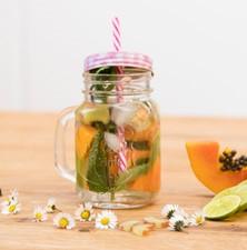 BWT Rhabarber-Papaya-Wasser Rezept