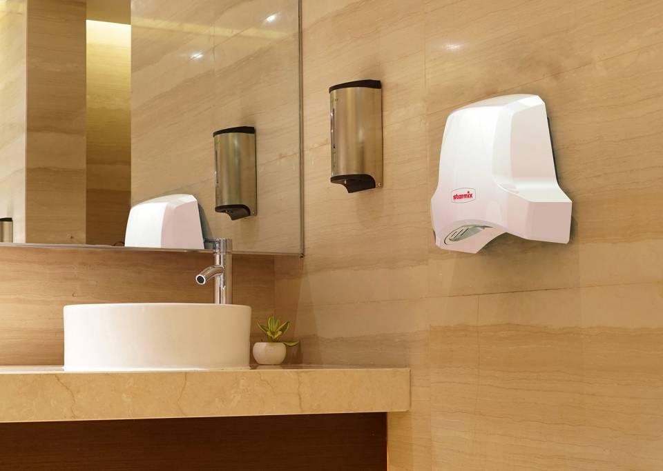 AirStar-Händetrockner: Hygienisch, schnell und energiesparend.
