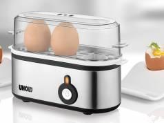 Unold Eierkocher Mini für ein bis drei Eier.