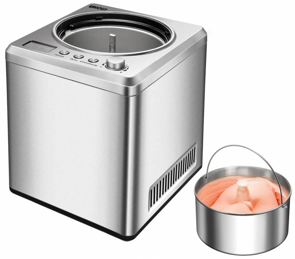 Unold Eismaschine Exklusiv für Sahneeiscreme in 30 Minuten.