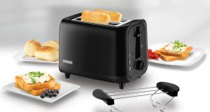 Unold Toaster Easy Black mit Cool-Touch-Gehäuse.