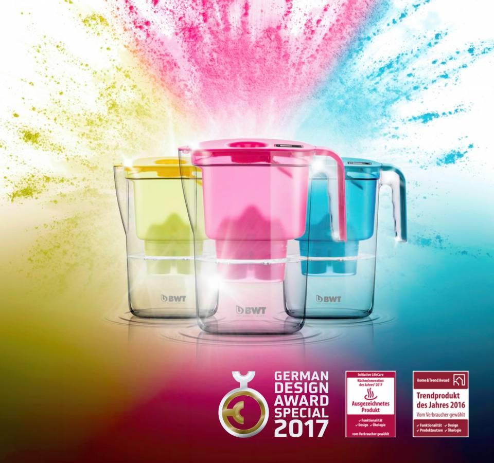 Der Magnesium Mineralizer VIDA in den Trend-Farben Pink Kiss, Cool Petrol und Fresh Lemon sind ein wahrer Hingucker am POS