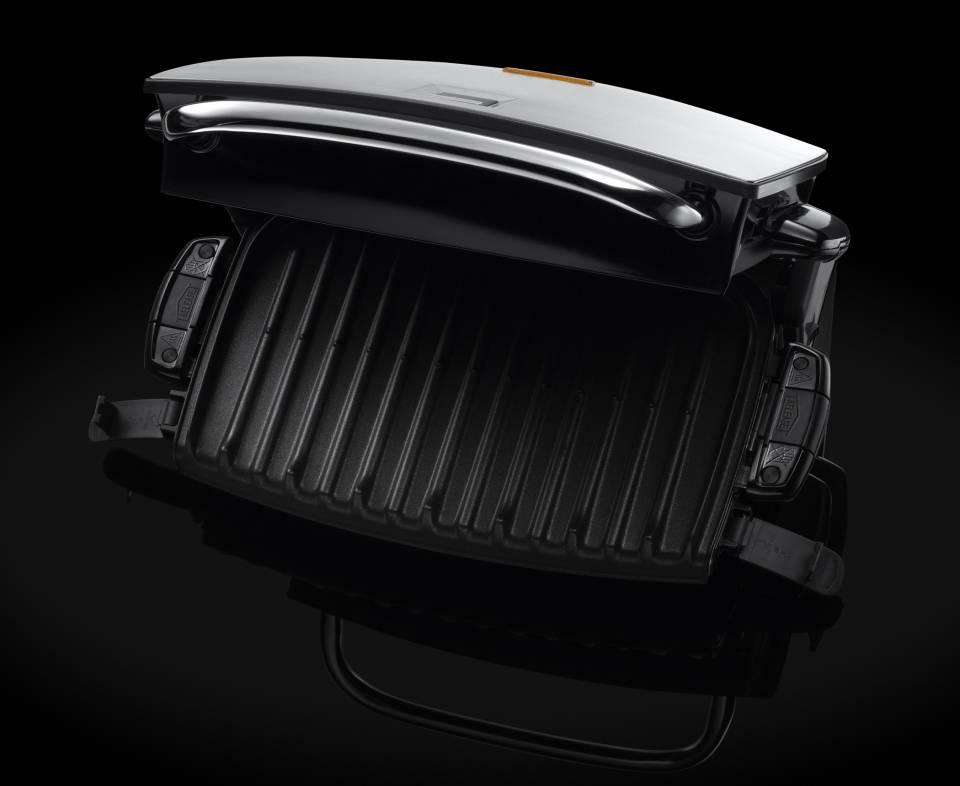 George Foremann Grill&Melt Fitnessgrill zum Grillen, überbacken, Sandwiches/Panini toasten.