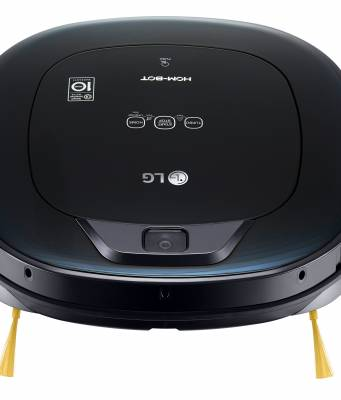 LG Staubsaugerroboter HomBot VRE 610 BKC mit Raumerkennung mit Kamera.