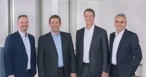 Zogen in München Bilanz (v.l.): Dr. Michael Schöllhorn, Dr. Karsten Ottenberg, Johannes Närger und Matthias Ginthum.