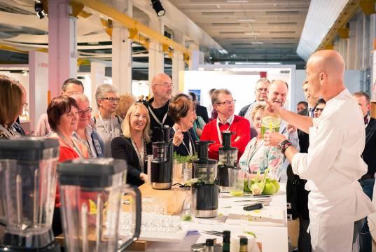 Das Thema Smoothies und Säfte kam bei den Händlern - auch dank des Einsatzes von TV-Koch Ralf Zacherl - sehr gut an.
