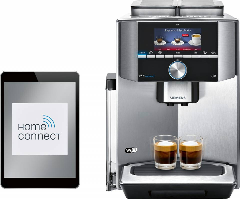 Siemens Kaffeevollautomat EQ.9 connect s900 mit THomeConnect.