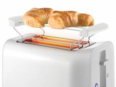 Unold Toaster Easy White mit 6 Röstgraden.