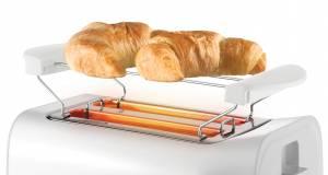 Unold Toaster Easy White mit 6 Röstgraden.