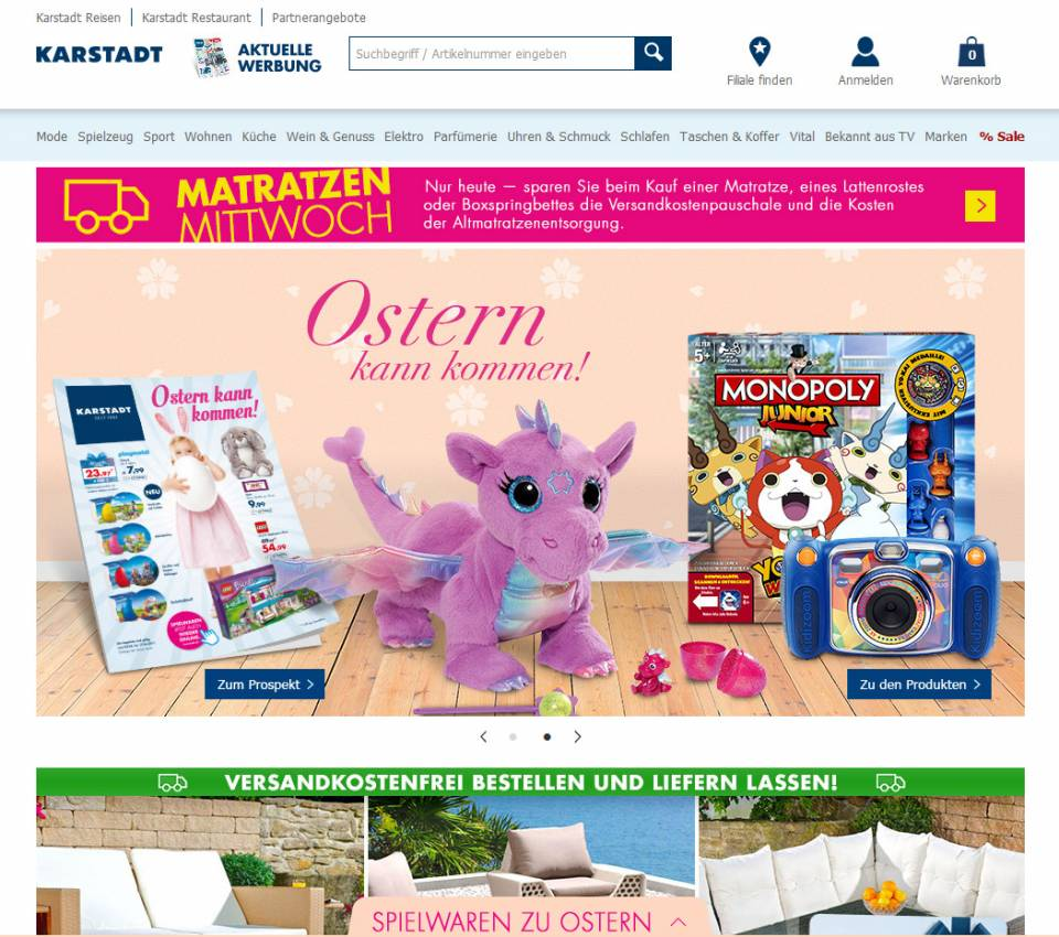 Karstadt Screenshot