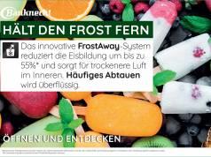 Frost-weg-Technologie in der Energieeffizienzklasse A++.