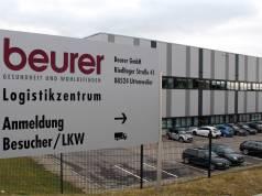 Das Logistikzentrum ist Teil des Kundenservices bei Beurer.