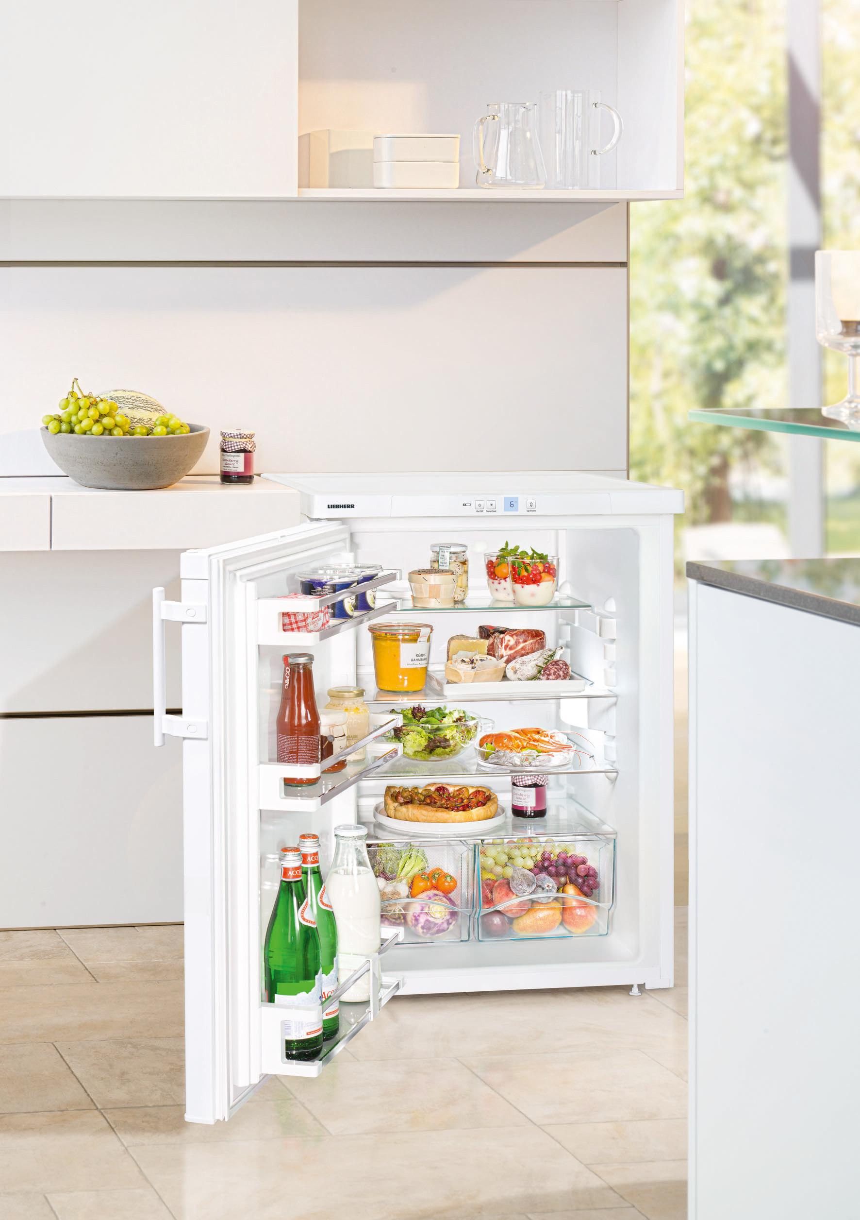 Bei den Tischkühlschränken ganz vorne: Liebherr TP 1760.