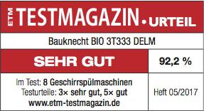 Testlogo -Spülen ETM Testmagazin Bauknecht