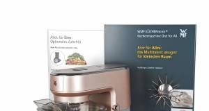 """Mit einer großen VKF- und Marketing-Aktion für die Küchenmaschine """"One for All"""" aus der Serie der KÜCHENminis unterstützt die WMF den Handel beim Abverkauf."""