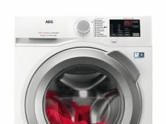 Schonende Textilpflege im Preiseinstieg: Frontlader Modell der AEG 6000er Serie.