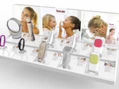Premium-Anmutung: Präsentationsdisplay Beauty von Beurer.