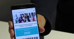Mobile-Coupons lassen sich direkt vom Display des Smartphones einlösen.
