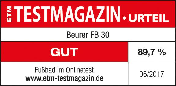 Logo ETM Testmagazin Beurer FB 30