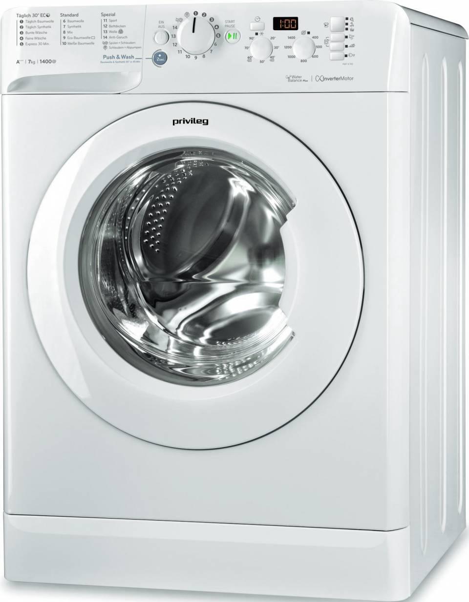 privileg Waschmaschine PWF X 743 mit Eco-Motor.