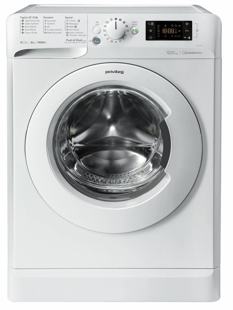 privileg Waschmaschine PWF X 843 S mit Push & Wash.