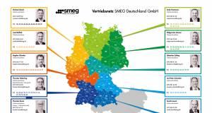 Zwölf Gebietsverkaufsleiter bearbeiten für Smeg den deutschen Markt.