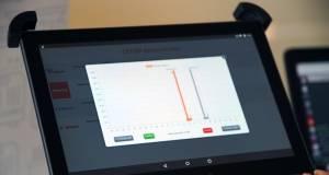Nachrichten und Statusmeldungen aller Geräte laufen auf einem Tablet-PC zusammen.