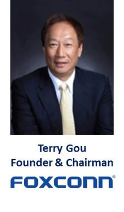 "Ein ""global player"" in Berlin: Terry Gou."
