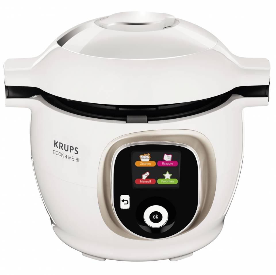 Krups Multikocher Cook4Me+ CZ7101 mit 150 vorinstallierten Rezepten.
