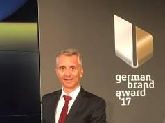 Beurer Geschäftsführer Marco Bühler nahm in Berlin die Auszeichnung entgegen.