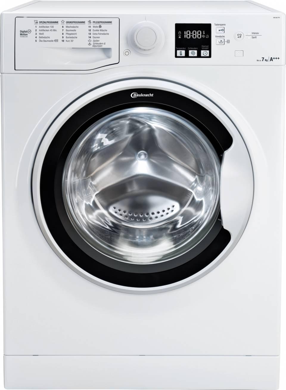 Bauknecht Waschmaschine BK 1000 WA Soft 7F4 mit Dynamic Inverter-Motor.