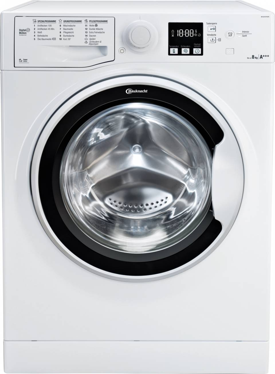 Bauknecht Waschmaschine BK 1000 WA Soft 8F42PS mit Digital Motion Technology.