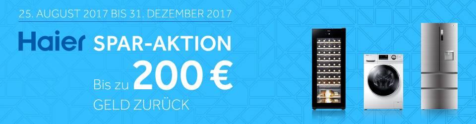 Haier kaufen und bis zu 200 € sparen.