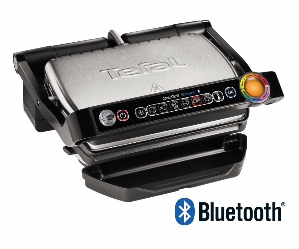 Tefal Kontaktgrill OptiGrill Smart mit Bluetooth-Funktion.
