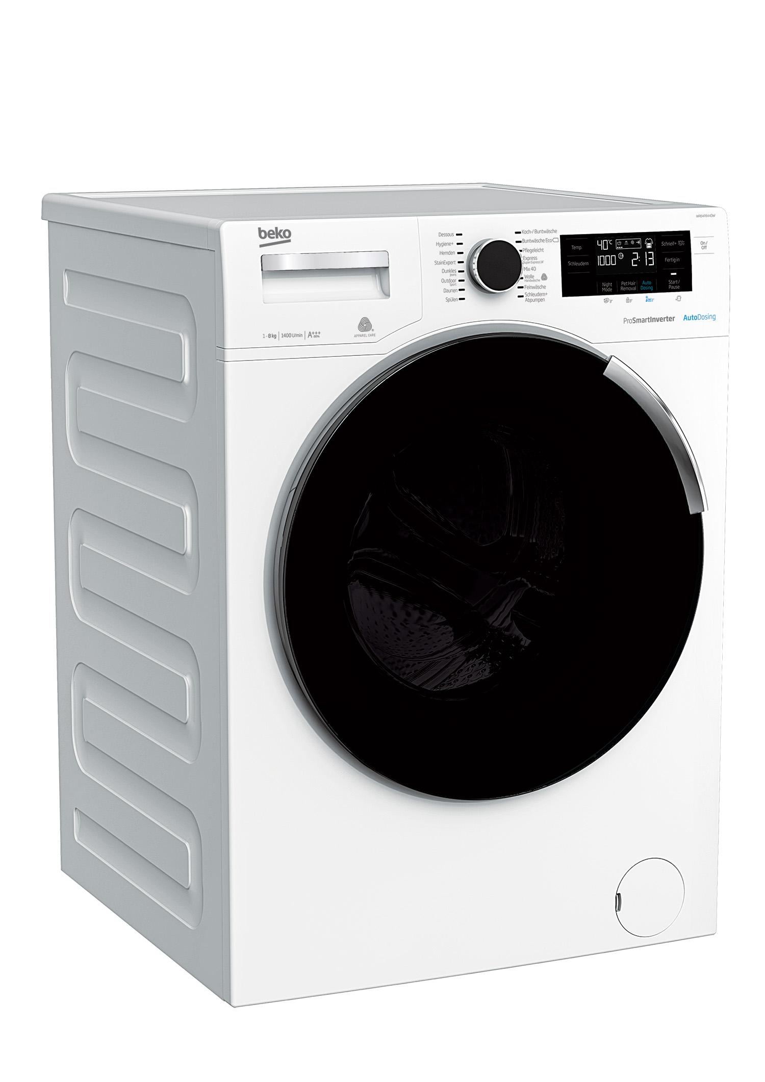 beko waschvollautomat wtv8744d. Black Bedroom Furniture Sets. Home Design Ideas